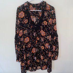 Forever 21 Floral Collar Dress